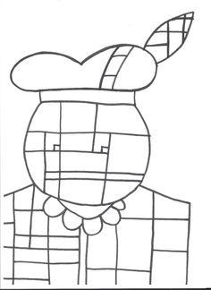 Kleurplaat zwarte piet: piet mondriaan Christmas Time, Xmas, Holiday, St Nicholas Day, Crafts For Kids, Arts And Crafts, December, Art Plastique, Saints