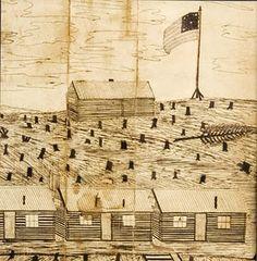 Hand drawn Map of Civil War Barracks