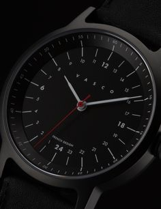 Téméraire '98 - Full Charcoal Black Watch - VASCO WATCH
