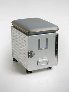 Cargo Box aus dem Flugzeug, Hocker mit Stauraum