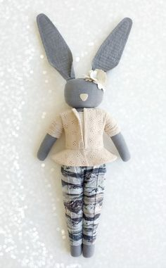 Fabric Bunny by navyplum.com