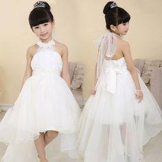 Pas cher Livraison gratuite bébé filles robe de soirée 2015 coréenne filles  princesslace longue queue de