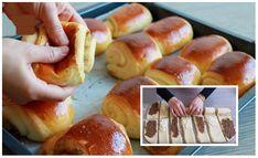 Challa Bread, Hot Dog Buns, Hot Dogs, Croissants, Pretzel Bites, Doughnut, Sushi, Nutella, Food And Drink