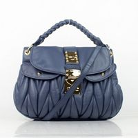 MIU MIU Coffer Two Way Bag 88035 blue,only [$198] from bagspurseonline.com