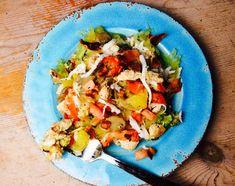 Food Fitness by Paige: Mozzarella Bacon Chicken over Spaghetti Squash
