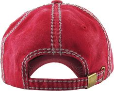 KBVT-706 RED Fashion Vintage Baseball Cap Distressed Washed Dad Hat  Adjustable  Amazon. fdd7ae17a