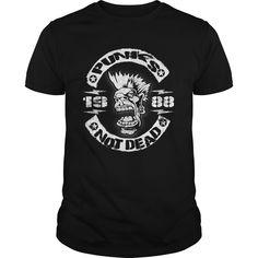 Punks Not Dead 1988 T-Shirts, Hoodies. CHECK PRICE ==► https://www.sunfrog.com/Birth-Years/Punks-Not-Dead-1987-98648196-Black-Guys.html?id=41382