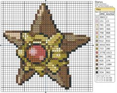 Birdie Stitching Pokemon Pattern - 120 Staryu