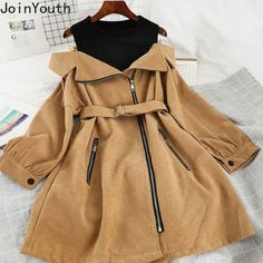 Edgy of the shoulder belted dress. Kpop Fashion Outfits, Girls Fashion Clothes, Korean Outfits, Mode Outfits, Fashion Dresses, Cute Casual Outfits, Pretty Outfits, Stylish Outfits, Kawaii Fashion