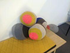 Korridordesign / designtrade / designcph /knitted pillows designed by Stine Leth