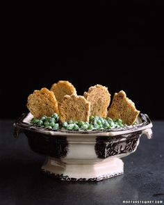 Rest in Peas - Our version of chips and dip wears a graveyard getup this Halloween.