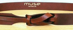 Mahogany Leather MUSE Belt 1 1/4 inches FREE SHIPPING by MuseBelts