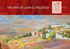 """Village of Calabria, Oil on Canvas, 34""""x24"""""""