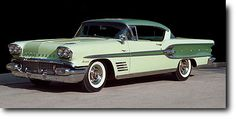 Kris Trexler (Hollywood TV producer)'s 1958 Pontiac Bonneville Sport Coupe in two-tone Calypso and Burma green paint with rarely seen factory option sliding Plexiglass sunvisor on the inside