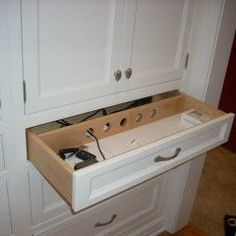 charging station in drawer