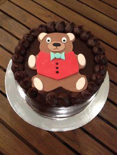 Chocolate teddy cake