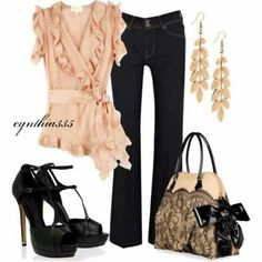 What a cute date night outfit!
