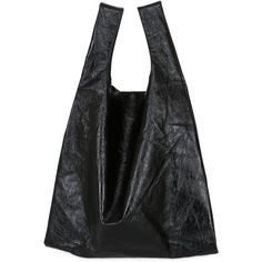 Mm6 Di Maison Margiela Women Metallic Faux Leather Tote Bag (£225) ❤ liked on Polyvore featuring bags, handbags, tote bags, black, tote bag purse, faux leather tote, faux leather tote bag, metallic purse and tote handbags