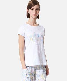 T-shirt imprimé - Sleepwear & Loungewear, Pyjamas, Beachwear, Lounge Wear, Sportswear, Short Hair Styles, Maternity, Fall Winter, T Shirt