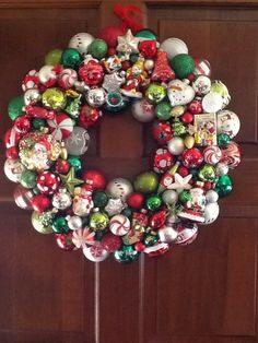 Heather's glass ornament wreath.
