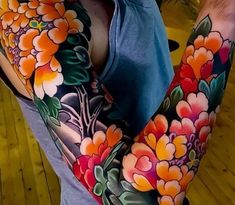 Tattoos and meanings of tattoo half sleeve # Half sleeve tattoos # Sleeve tattoos - . Asian Tattoos, Dope Tattoos, Body Art Tattoos, Tattoos For Guys, Great Tattoos, Half Sleeve Tattoos Designs, Japanese Sleeve Tattoos, Sleeve Tattoos For Women, Nature Tattoo Sleeve