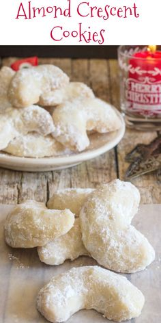 Almond Crescent Cookies – An Italian in my Kitchen Almond Crescent Cookies, almond, pecan or walnut these melt in your mouth Christmas Cookie Recipe are a must make. Crescent Cookie Recipe, Crescent Cookies, Almond Crescent Recipe, Italian Almond Cookies, Italian Cookie Recipes, Italian Wedding Cookies, Italian Christmas Cookies, Almond Meal Cookies, Holiday Cookies