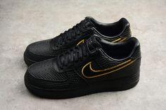 2018 New Nike Air Force 1 Low Premium iD Black Mamba Kobe AQ9763-991 Shoes-6 Air Force Shoes, New Nike Air Force, Air Force 1, Jordan Shoes, Shoes Jordans, Black Mamba, Cute Shoes, Kobe, All Black Sneakers
