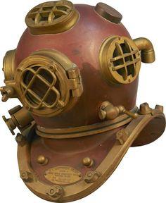 Full Size U.S. Navy Mark V Diving Helmet : Lot 649