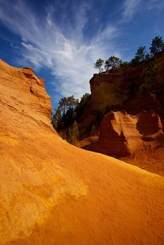 - Ochre and Blue Beautiful OCHRE in Roussillon, Provence-Alpes-Cote d'Azur, France Colorado, Places Around The World, Around The Worlds, Provence France, Ville France, Beaux Villages, Rhone, Parcs, South Of France