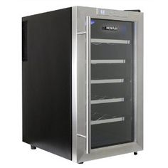 NewAir AW-181E Space Saver 18 Bottle Thermoelectric Wine Cooler, Stainless Steel --- http://www.amazon.com/NewAir-AW-181E-Bottle-Thermoelectric-Stainless/dp/B002ZWR194/?tag=shiningmoonpr-20