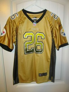 Le Veon Bell - Pittsburgh Steelers Authentic Jersey - NIKE Youth XL  2fa98155b