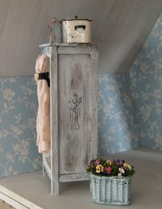Shabby Doll House | Here's the wardrobe I've built for the bedroom in the shabby house.