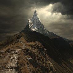 summit with light
