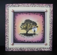 By Sandma - Tree of Life and Delicate Vine stamps by Inkylicious, coloured with Memento and Adirondack inks