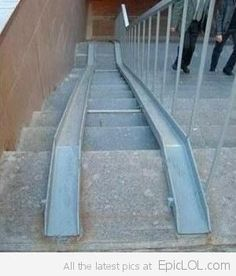 Used Wheel Chair Ramps you only had one job and.a step on a wheelchair ramp?! | only