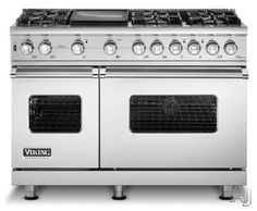 Viking 48'' 6 burner and griddle..yep, when I can - doesn't necessarily have to be a Viking, but gas stovetop and electric/convection oven - this width!