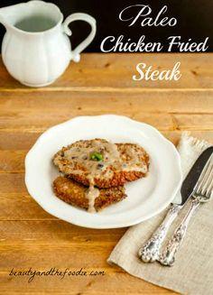 Southern Chicken Fried Steak with Gravy, Paleo and Low Carb, #paleochickenfriedsteak - beautyandthefoodie.com