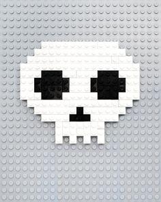 Lego, 8-bit ghosts, eyes & skulls, by Mini-eco