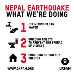 ..kaarten en kalenders..in de wwreldwinkels......More than 7,000 people lost their lives and over 14,000 were injured as a result of the #NepalEarthquake. Please donate now: http://oxf.am/ZQTj. Oxfam has flown in almost 20 tons of vital aid supplies to #Kathmandu international airport and trucked in more to remote villages in the #Gorkha region. So far Oxfam has reached more than 60,000 people so far with clean #water supplies, hygiene kits, temporary latrines and #shelter. #NepalQuakeRelief…