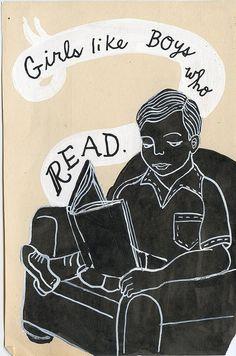 Boys Who Read by Daisy Winfrey, via Flickr