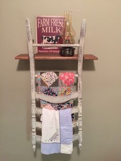 RESERVED FOR LANIE Chippy farmhouse ladder back by Knicknaques