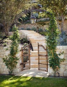 Pergola In Front Yard Dream Garden, Home And Garden, Landscape Design, Garden Design, Wooden Gates, Garden Pictures, Garden Paths, Garden Steps, Garden Inspiration
