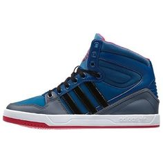 New Adidas Court Attitude Triblu Sneakers size 8 New in box. The Court Attitude brings premium details to a basketball snicker.  The Women's shoe features a smooth leather and unbuckle upper, rich colors and a bold Trefoil on the tongue. No tag attached; however shoes have NEVER been worn. Adidas Shoes Sneakers
