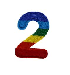 Character Number 2 TWO Rainbow Letter Alphabet Appliques Hat Cap Polo Backpack Clothing Jacket Shirt DIY Embroidered Iron On / Sew On Patch ** Click on the image for additional details.
