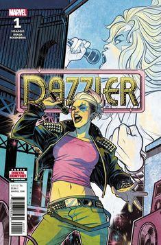 COMIC BOOK: Dazzler: X-Song # 1. PUBLISHER: Marvel Comics. WRITER(S) Magdalene Visaggio. ARTIST: Laura Braga. COVER ARTIST: Elizabeth Torque. ORIGINAL RELEASE DATE: 6 / 6 / 2018. COVER PRICE: $3.99. RATING: Teen +.