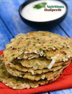This Nutritious Thalipeeth is made of a combination of flours, vegetables and spice powders, which together make it a rich source of iron, fibre and folic acid.