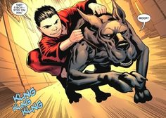 What!, there's no possible way that Damian is small enough to be able to ride Titus.