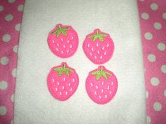 Machine Embroidered Hand made 4 Felt by HeartFeltCreation on Etsy, $3.40