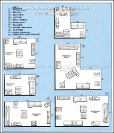 Workshop Layout - Workshop Solutions Plans, Tips and Tricks layou. - Workshop Layout – Workshop Solutions Plans, Tips and Tricks layout floor plans gar - Woodworking Workshop Layout, Workshop Plans, Workshop Design, Woodworking Projects That Sell, Woodworking Workbench, Woodworking Techniques, Woodworking Furniture, Woodworking Crafts, Garage Workbench