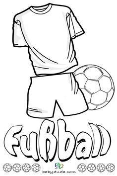 Fussball-Trikot Ausmalen. Malvorlagen WM für Kinder.